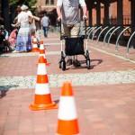 Senioren beim Rollatortest