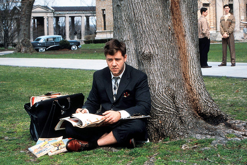 """Russel Crowe als John Forbes Nash Jr. in """"A Beautiful Mind"""" © picture alliance/Mary Evans Picture Library"""