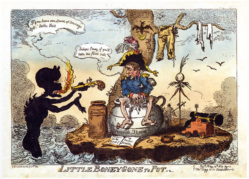 Little Boney gone to Pot von George Cruikshank © Wikimedia Commons