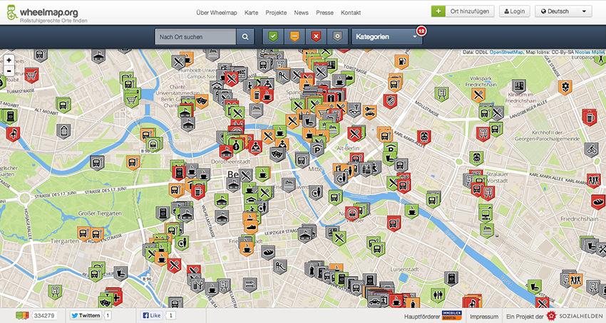 Screenshot wheelmap.org