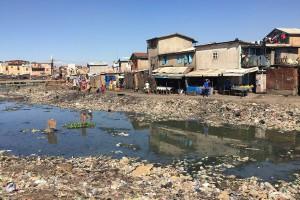Das Armenviertel von Antananarivo in Madagaskar. © dpa