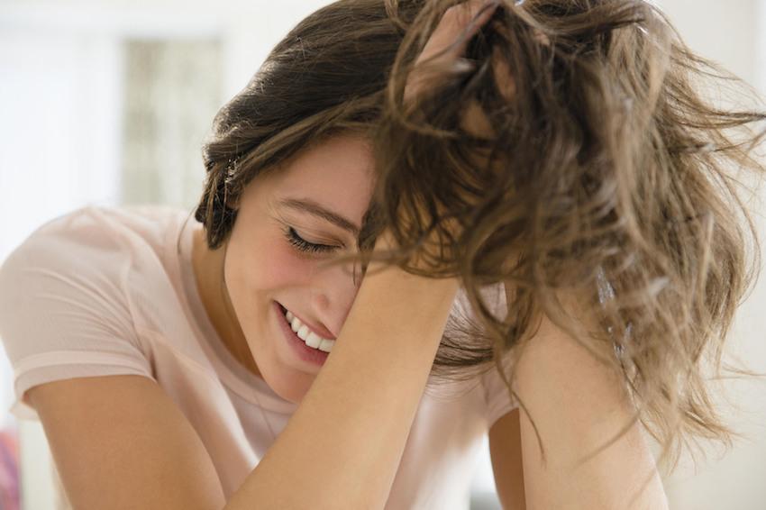 Entziehe auf dem Kopf das Haar prolabieren nicht